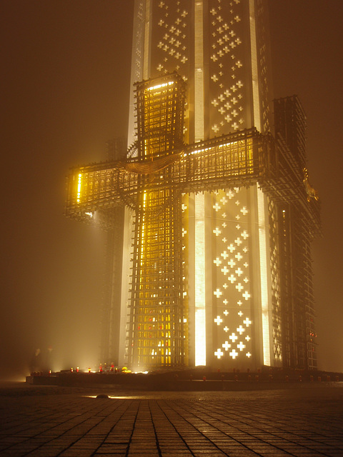 Holodomor Denkmal im Nebel