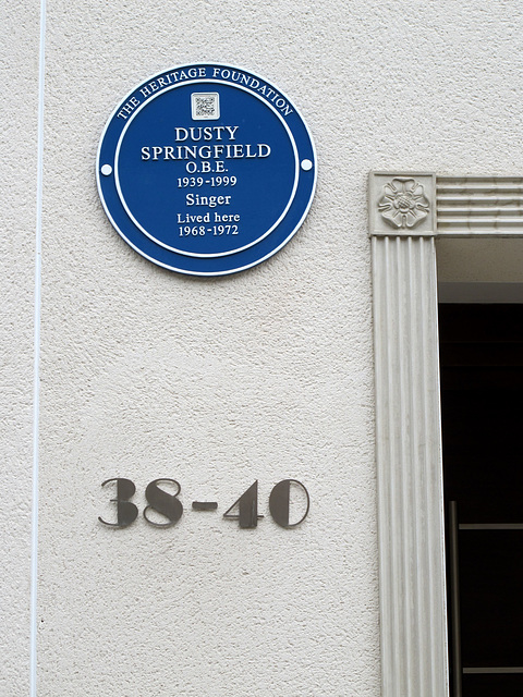 Dusty's Blue Plaque