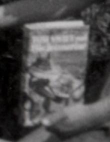 Boy Wins Tom Swift Book in Fourth of July Bike Parade in 1950s (Detail)