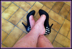 Christiane !! En mode Talons Hauts Cloutés / In a hot Studded Heels mood
