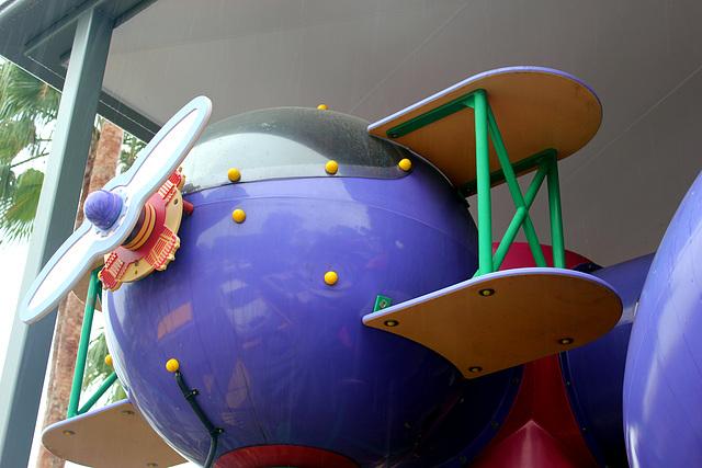 Purple Biplane