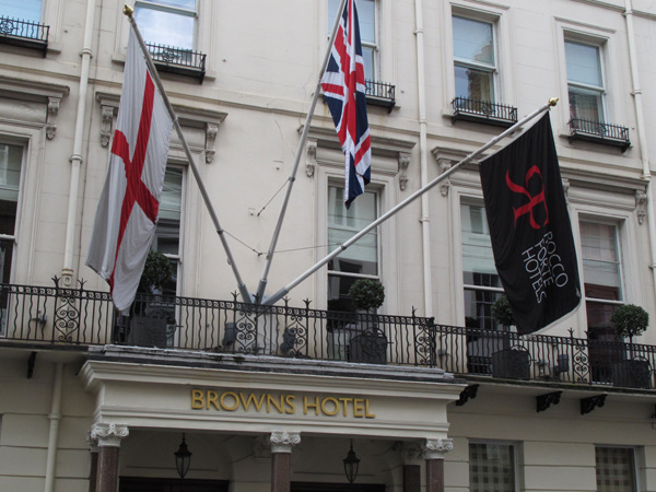 Browns Hotel flags
