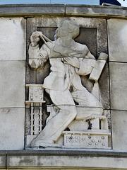 town hall,poplar,  1938 reliefs by david evans (2)