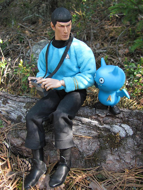Spock training Icy for landing party duties