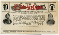 Lincoln-Lee Legion Pledge Card, 1903