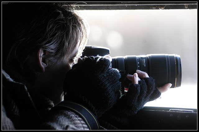 Getting the shot..........