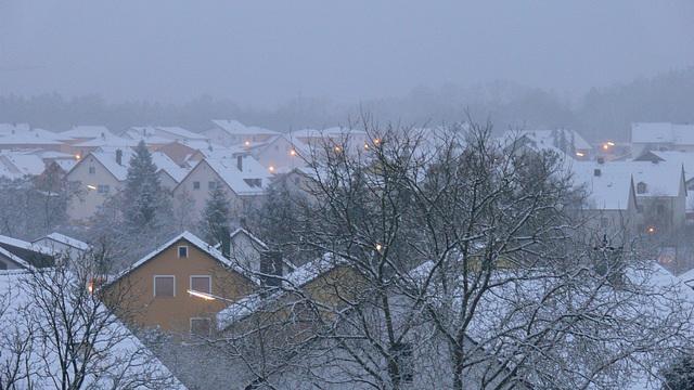 Winter über Nacht
