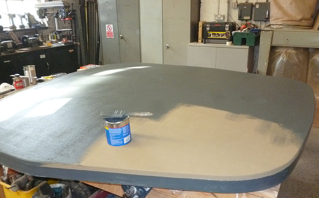 SSW - undercoating the canvas