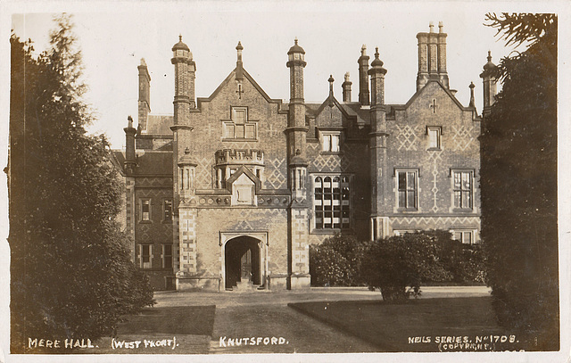 Mere New Hall, Cheshire (Demolished c1975)