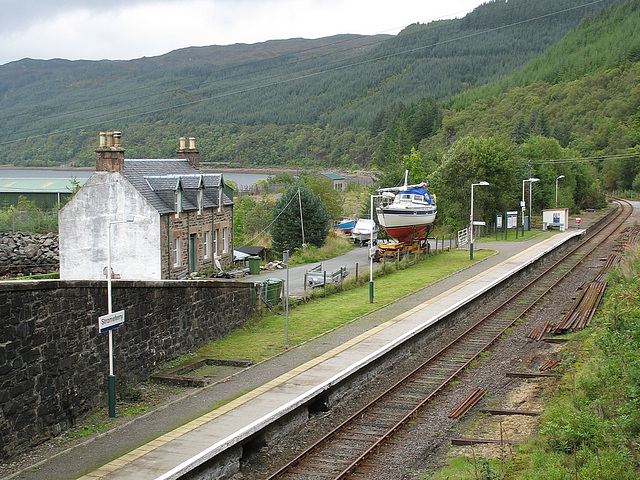 Stromeferry station from the bridge