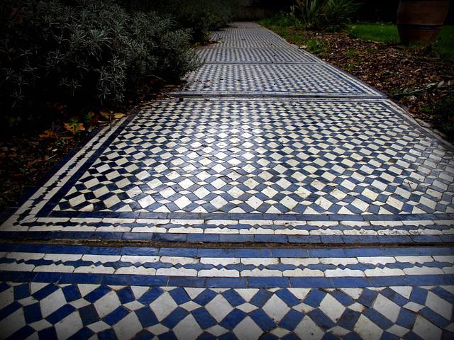 Mosaic pathway, Moroccan Garden