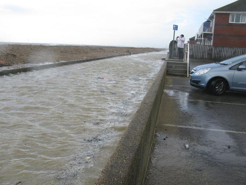 Flooded promenade