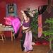 Silk fan veil flows in skilled hands...