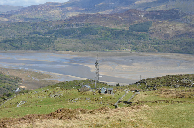 Welsh landscape and phone mast