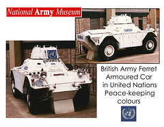 National Army Museum external exhibits circa 1995