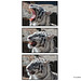 White Tiger Ending Yawn Close-up Triptych