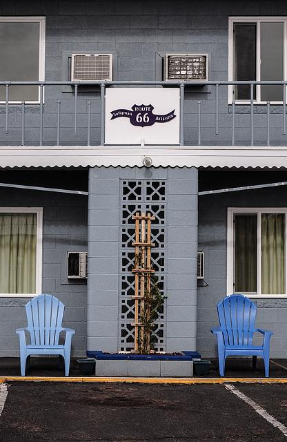 Motel-Terrasse
