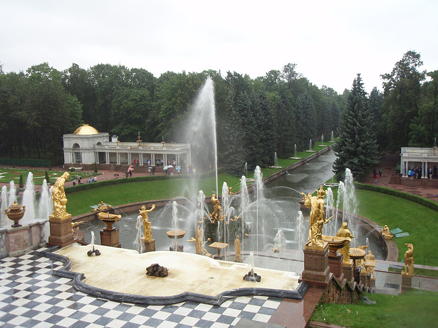 Springbrunnen in Peterhof