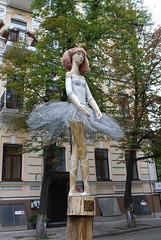 Balletttänzerin Skulptur