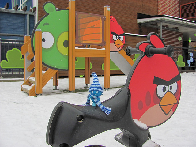 Icy at the Angry Birds playground 1