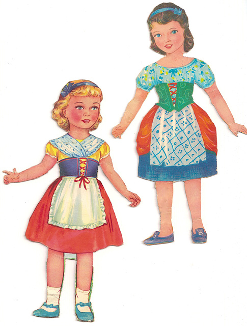 Fairytale/Nursery Rhyme Paper Dolls #1