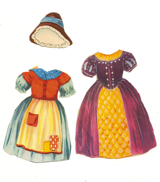 Vintage Fairytale/Nursery Rhyme Paper Doll Clothes #2