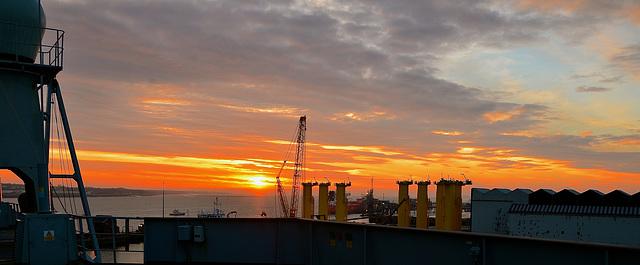 Mersey sunrise, Birkenhead