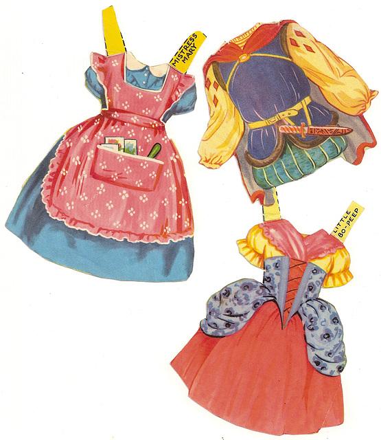 Vintage Fairytale/Nursery Rhyme Paper Doll Clothes #3