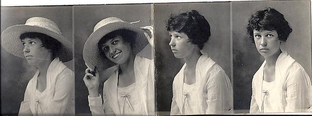 Unknown woman, photobooth strip