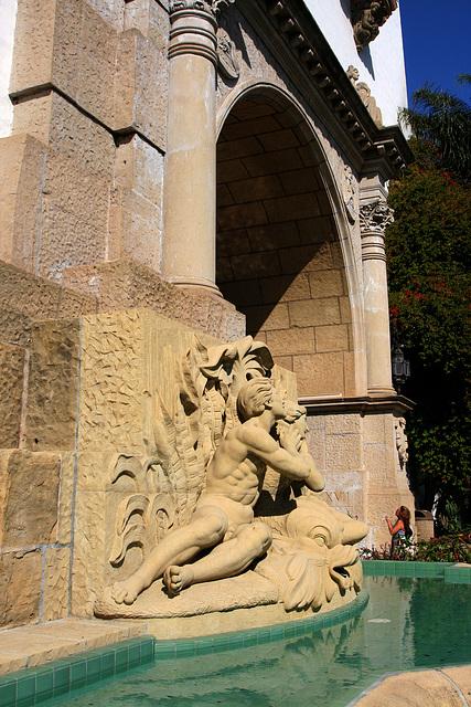 Santa Barbara County Courthouse - Spirit Of The Ocean Fountain (2115)