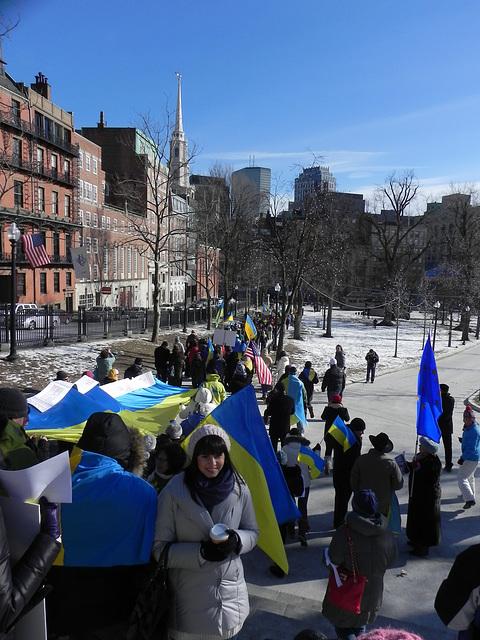 Boston supports Ukrainian Revolution