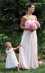 Flower girl and her mother