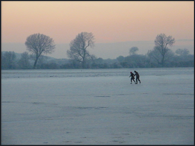 skaters at Port Meadow