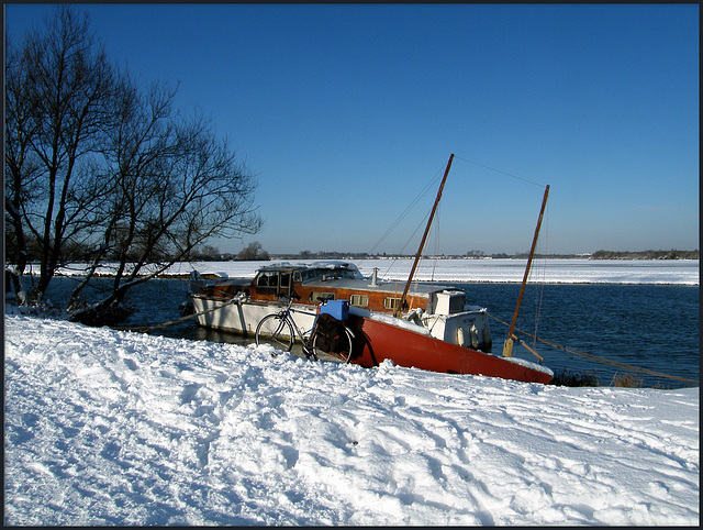 boats in winter
