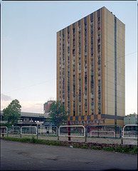 Yellow block, Katowice, Poland.
