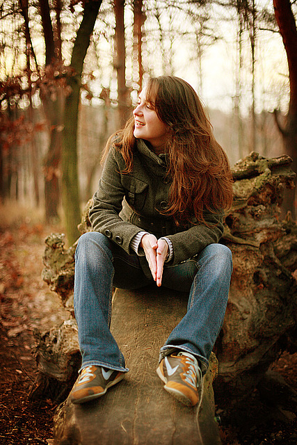 Lucia In Autumn Wood