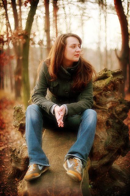 Lucia In Autumn Wood 4
