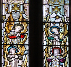 Detail of East Window, Saint Michael's Church, Birchover, Derbyshire