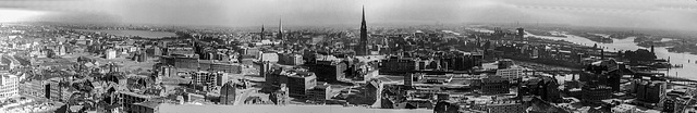 Hamburg April 1950 after the Bombing Raids of WW2 (Eastern Part) (270°)