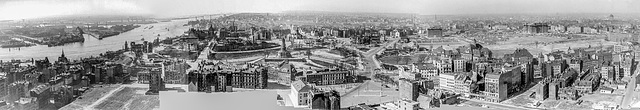Hamburg April 1950 after the Bombing Raids of WW2 (Western Part) (270°)