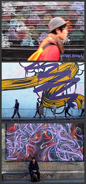 London Streets/art (Rush, walk, rest)