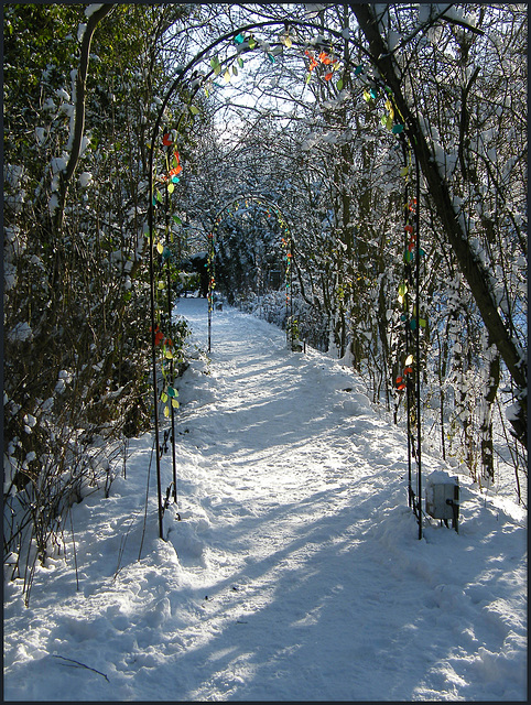 snowy path to the Perch