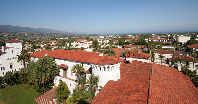 Santa Barbara County Courthouse Tower View (2101)
