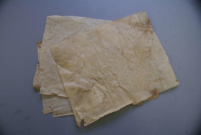 BM CV - grease proof paper