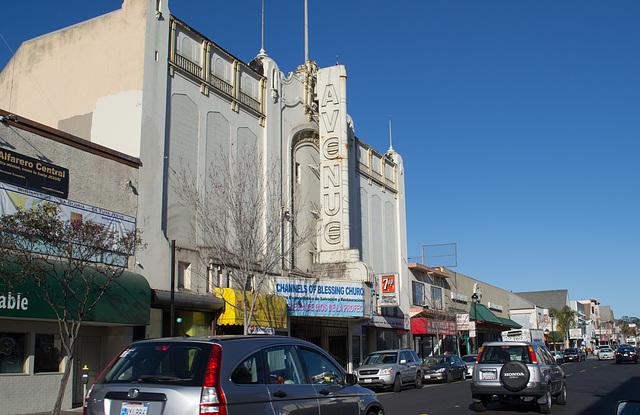 SF Portola district Avenue theater  (1109)