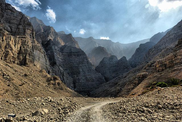 Am Ende des Wadi Litibah