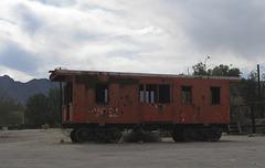 Desert Center Eagle Mountain Railroad caboose, Desert Center, CA (1612a)