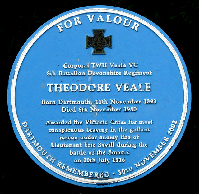 Theodore Veale Blue Plaque