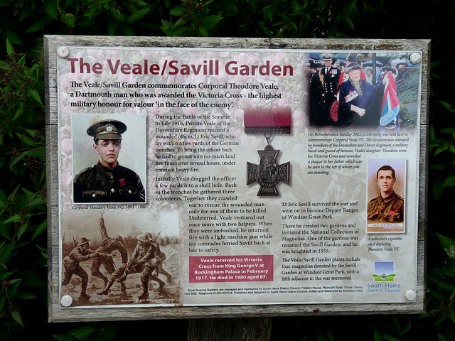 The Veale/ Savill Garden Commemoration