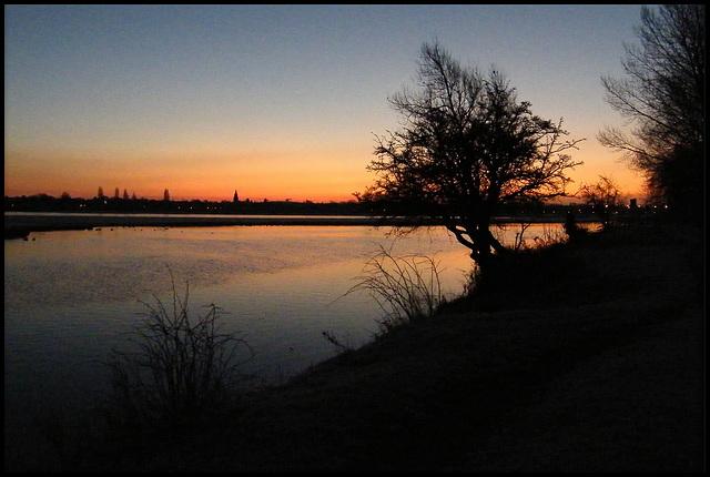 winter sunrise at Port Meadow